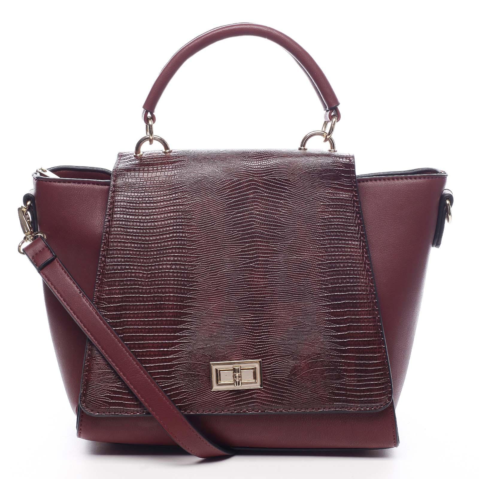 Dámská kabelka do ruky vínová - Dudlin Mirla