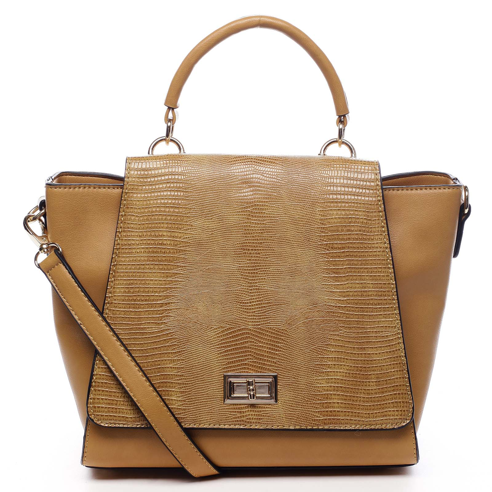Dámská kabelka do ruky žlutá - Dudlin Mirla