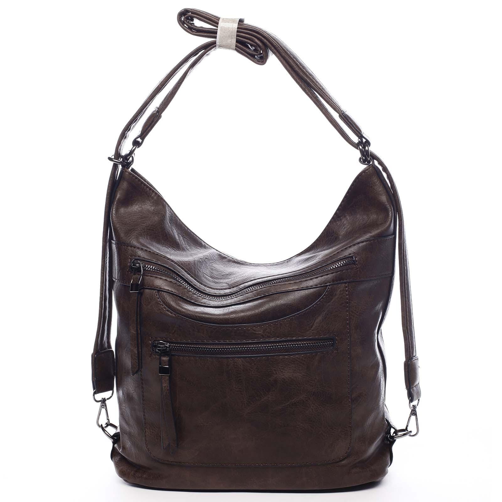 Dámská kabelka batoh kávově hnědá - Romina Pamila