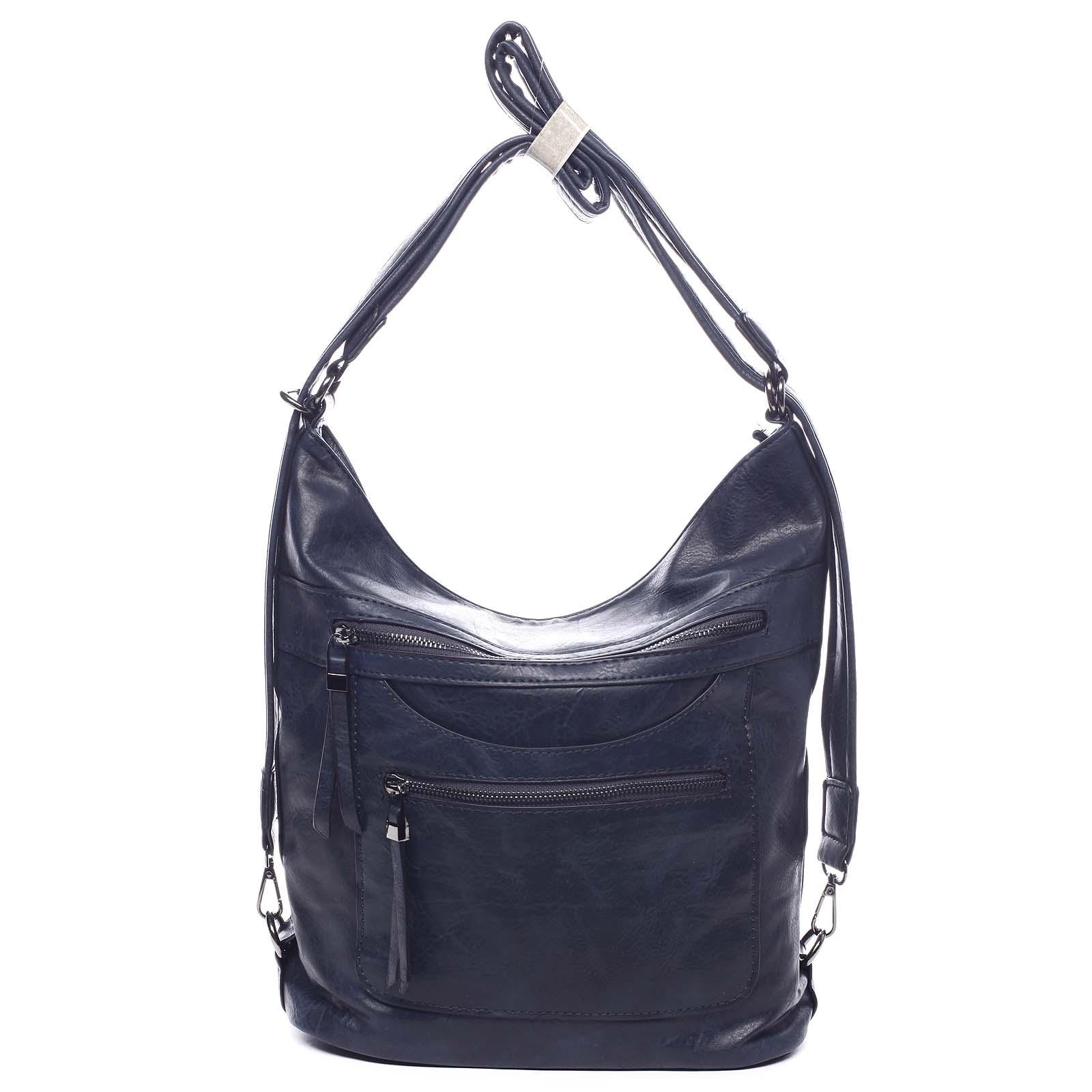 Dámská kabelka batoh tmavě modrá - Romina Pamila