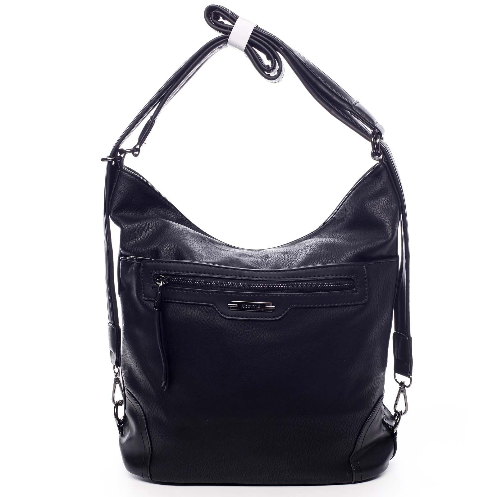 Dámská kabelka batoh černá - Romina Zilla