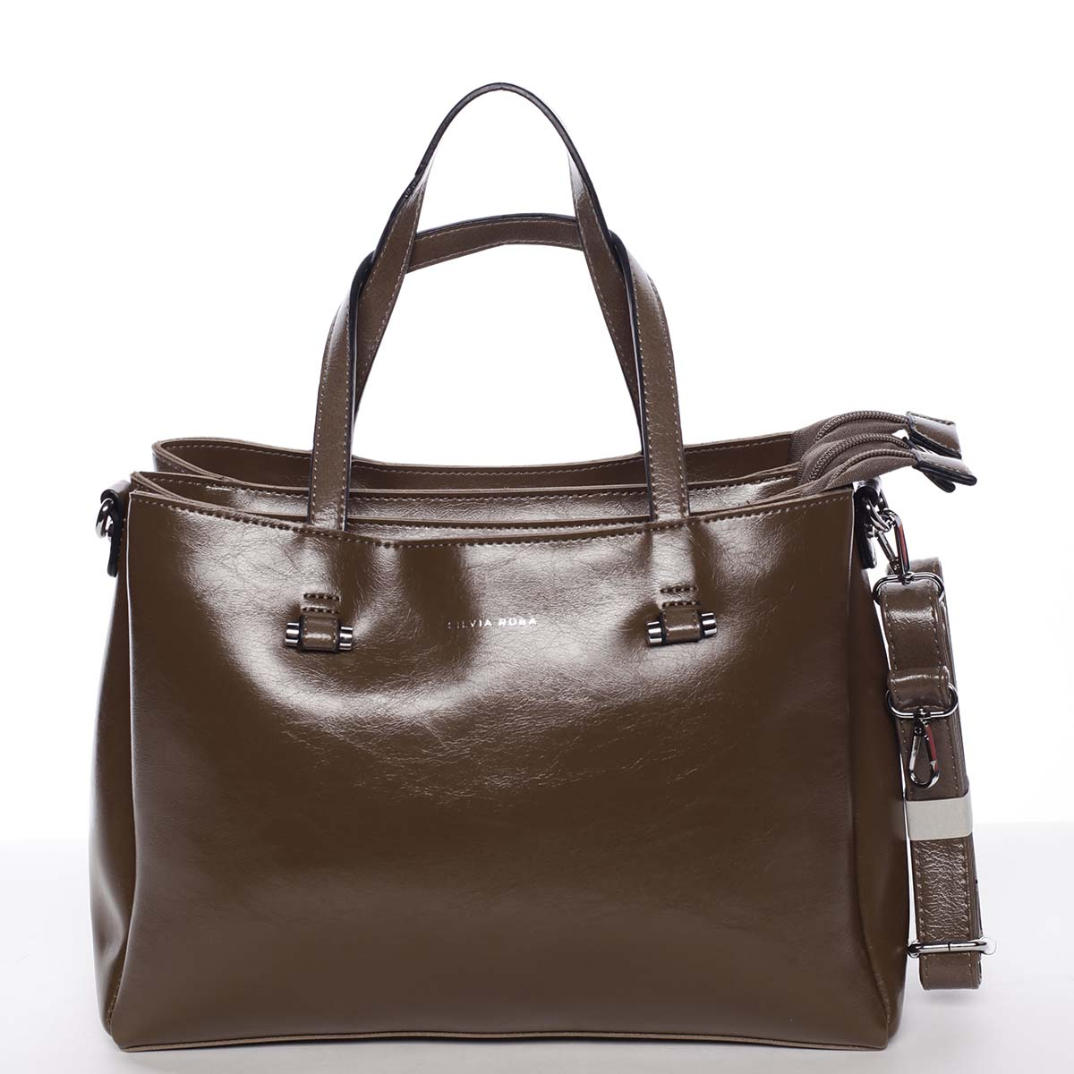 Hnědá elegantní kabelka - Silvia Rosa Saba