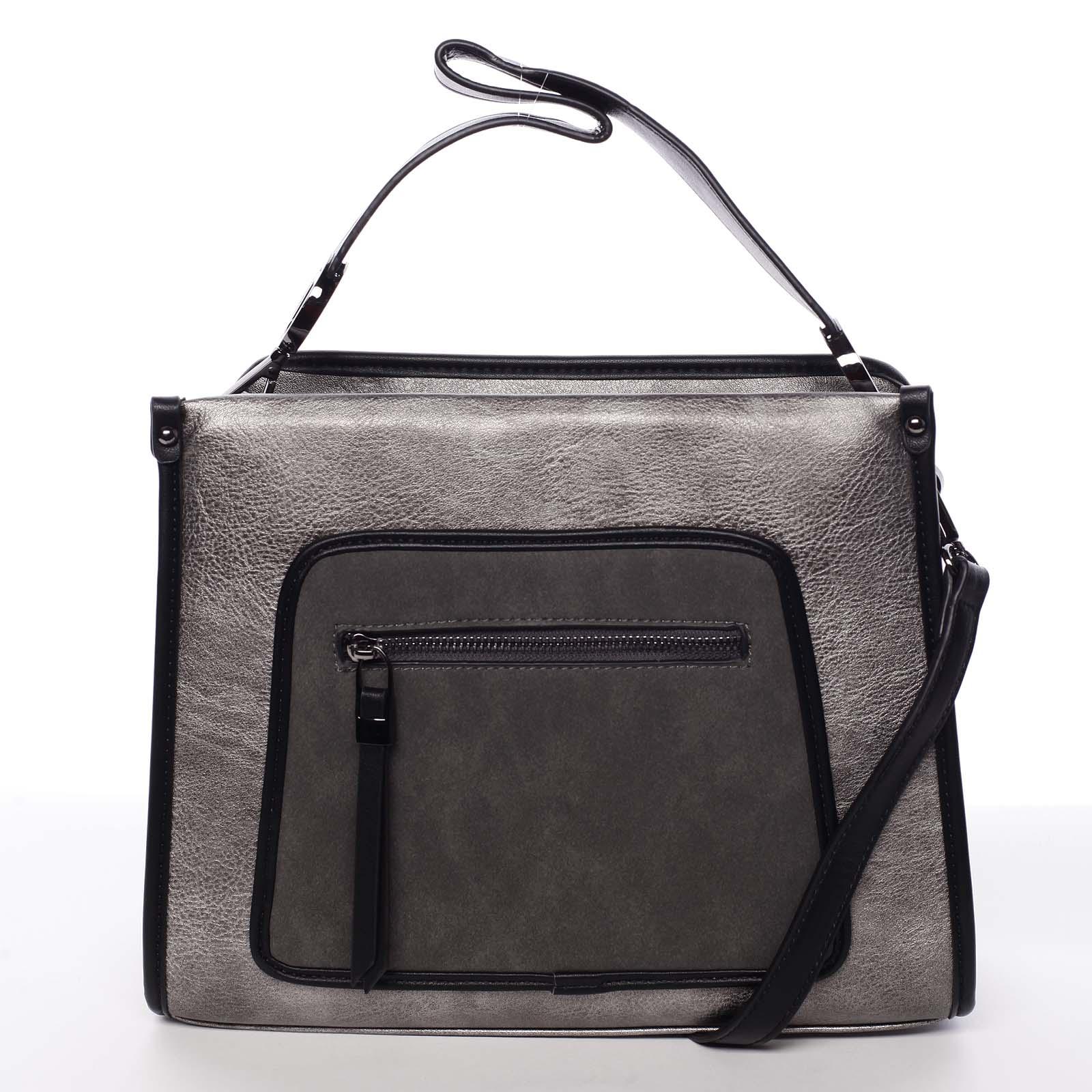 Unikátní elegantní střední kabelka pro dámy stříbrná - MARIA C Urania