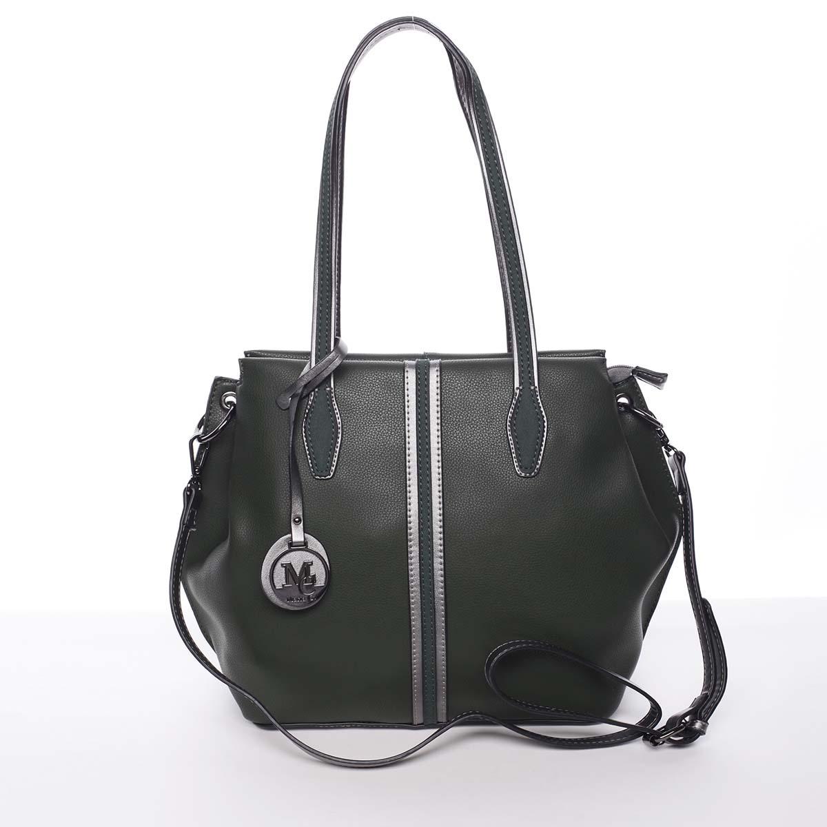 Stylová dámská kabelka přes rameno tmavě zelená - MARIA C Veronica