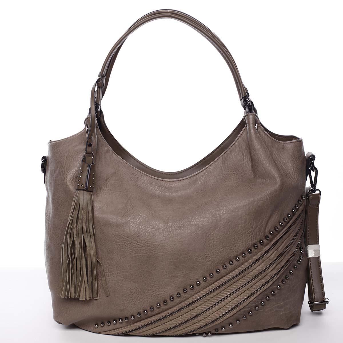 Originální dámská kabelka přes rameno taupe - MARIA C Xanthia