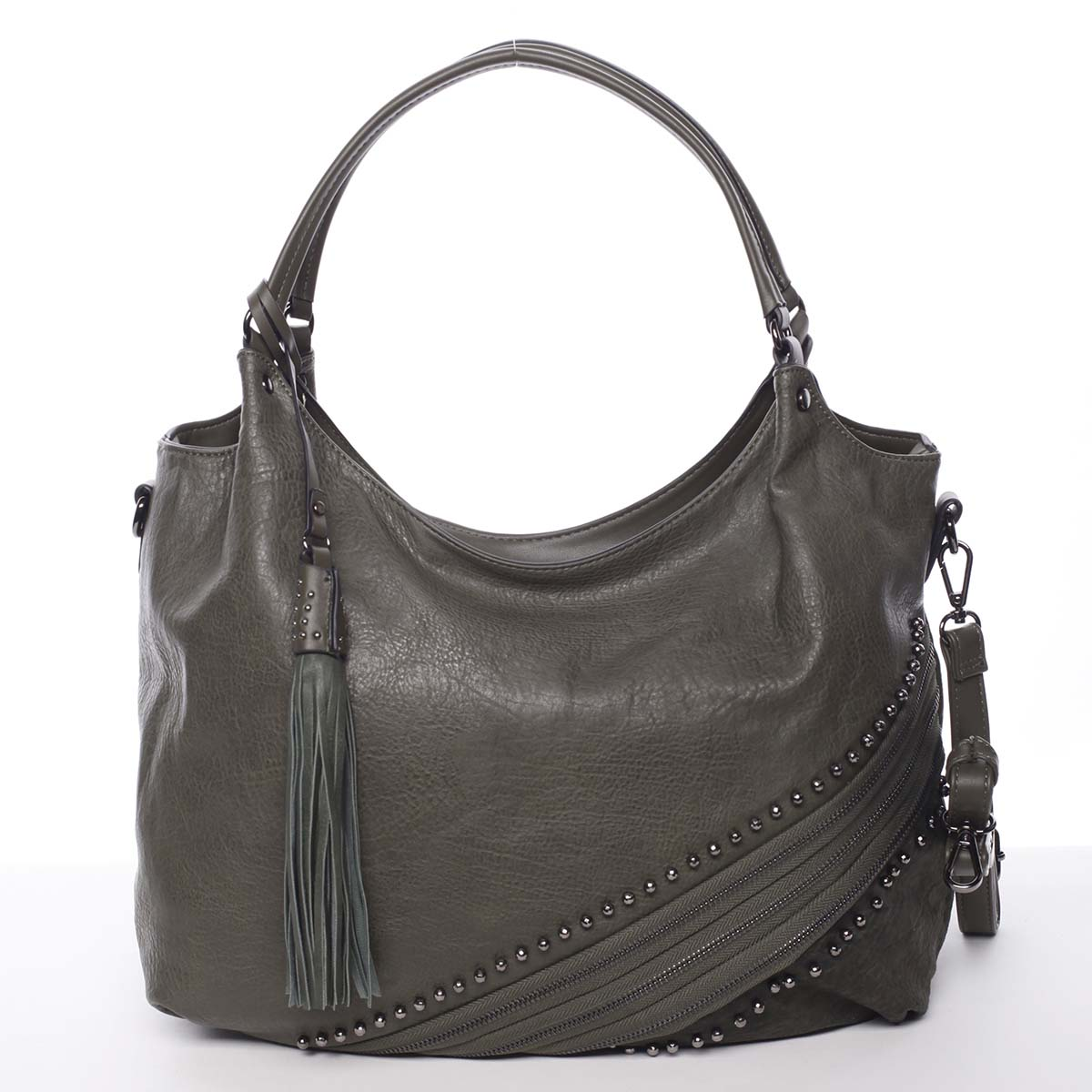 Originální dámská kabelka přes rameno tmavě zelená - MARIA C Xanthia