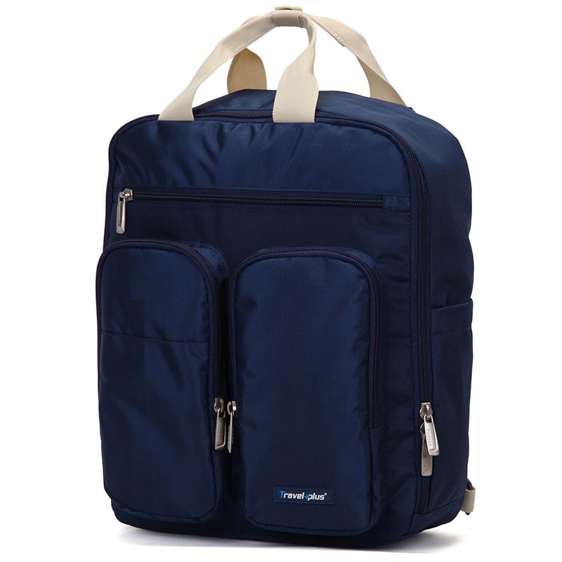 Plně funkční dámský batoh tmavě modrý - Travel Plus 0632