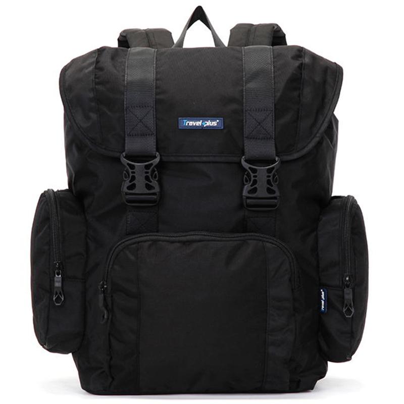 Velký černý cestovní batoh - Travel plus 7503