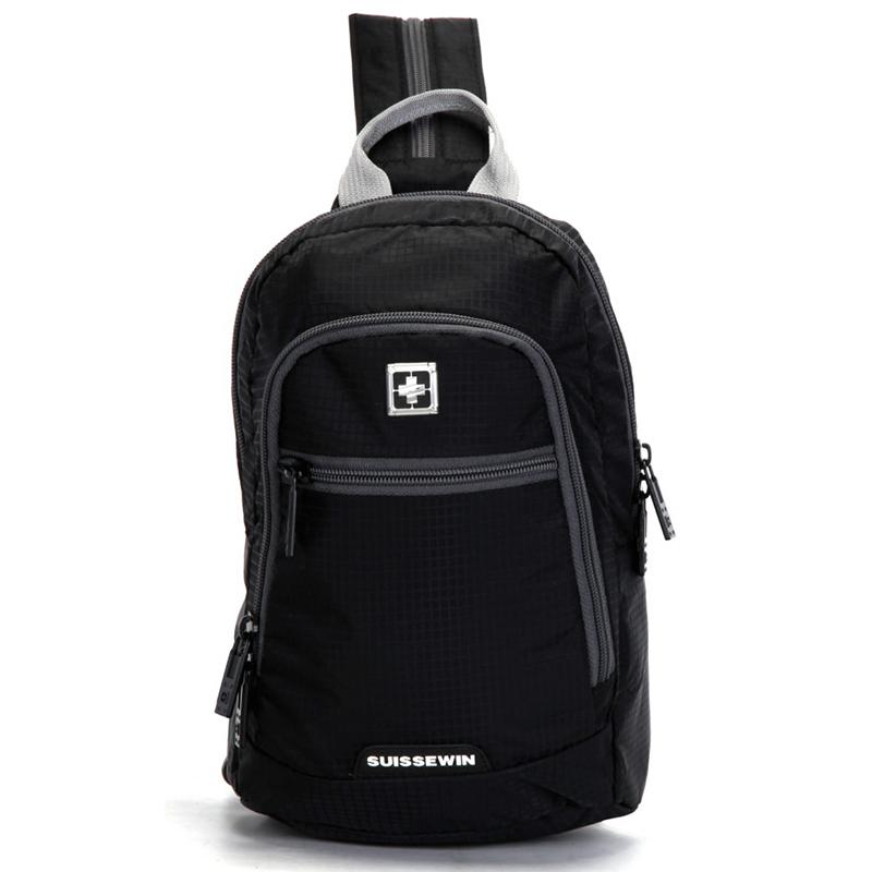 Malý černý batůžek na výlety - Suissewin 0007