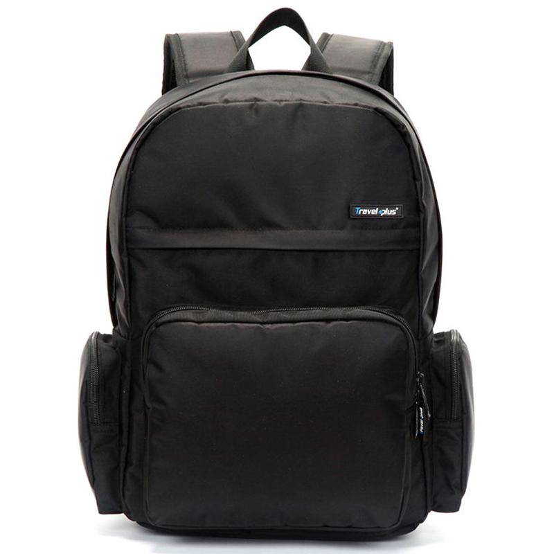 Školní a cestovní černý batoh - Travel plus 0109