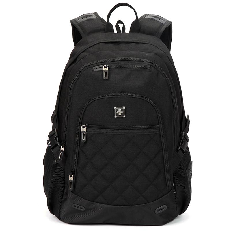 Turistický a sportovní černý prodyšný batoh - Suissewin 9616