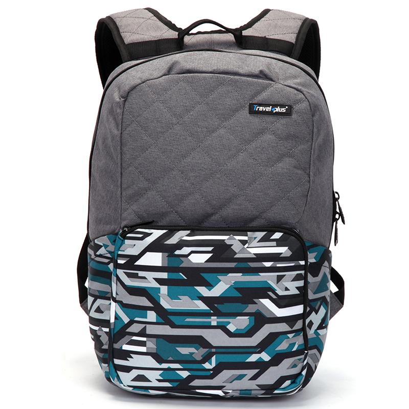 Módní cestovní šedý batoh - Travel plus 0106