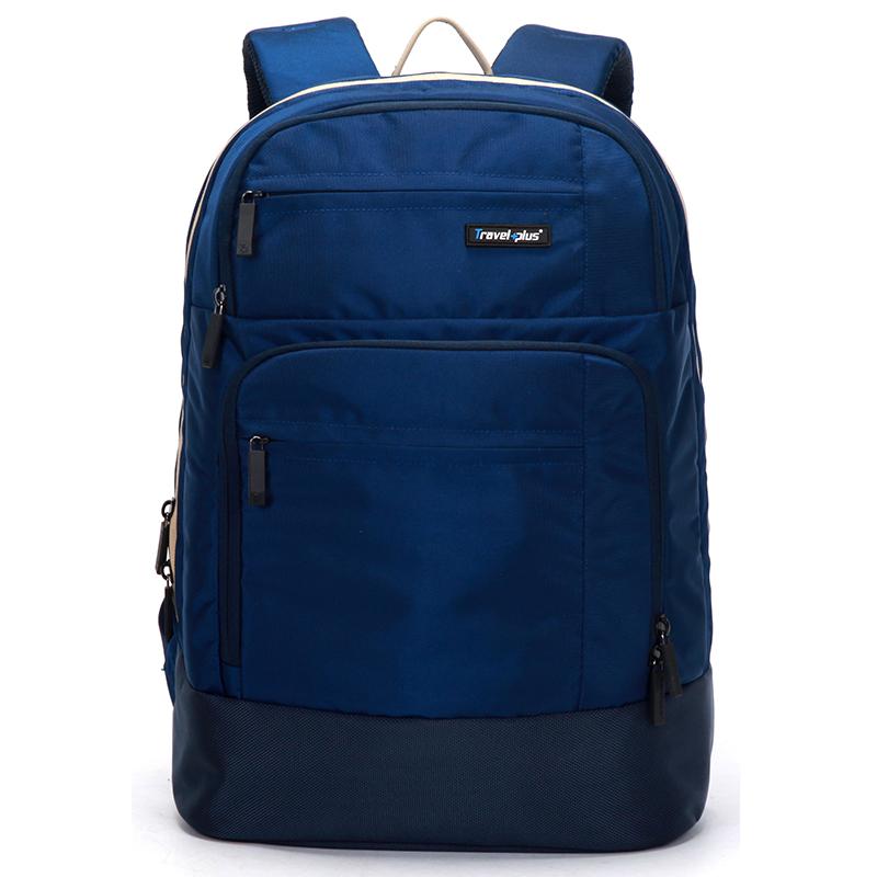 Modrý školní a cestovní batoh - Travel plus 0101