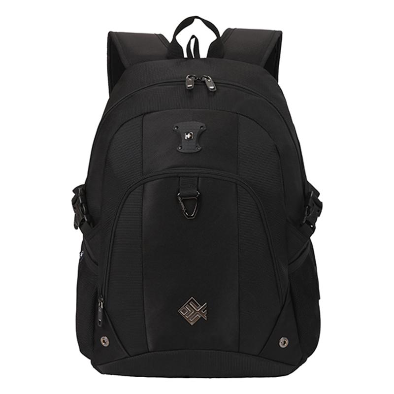 Pohodlný multifunkční prodyšný batoh černý - Suissewin 7029