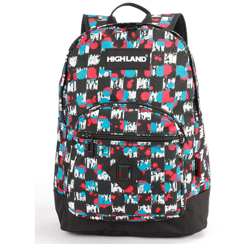 Velký barevný originální a stylový batoh - Highland 8275