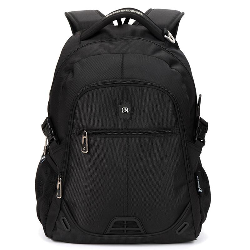 Kvalitní turistický a sportovní prodyšný batoh černý - Suissewin 9510
