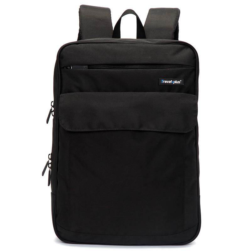 Černý školní a cestovní batoh - Travel plus 0127