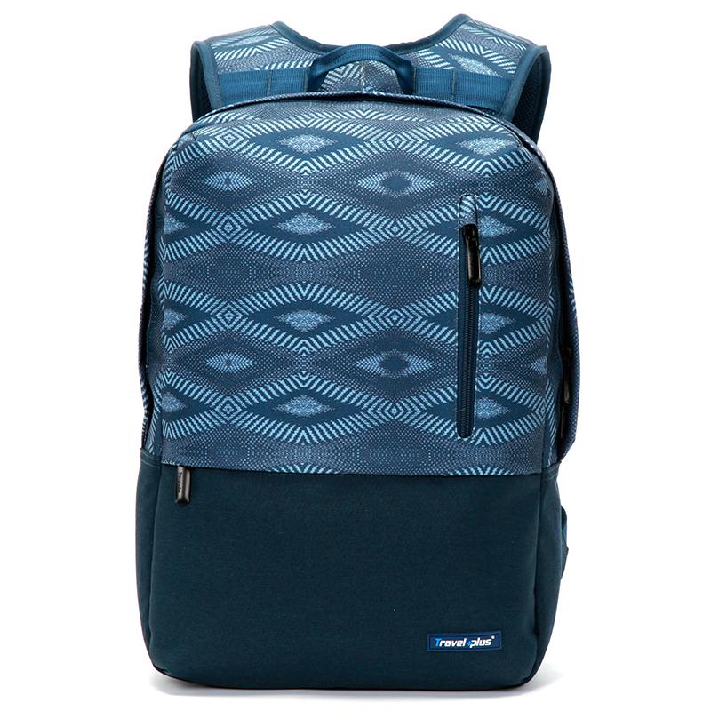 Módní cestovní modrý batoh - Travel plus 0117