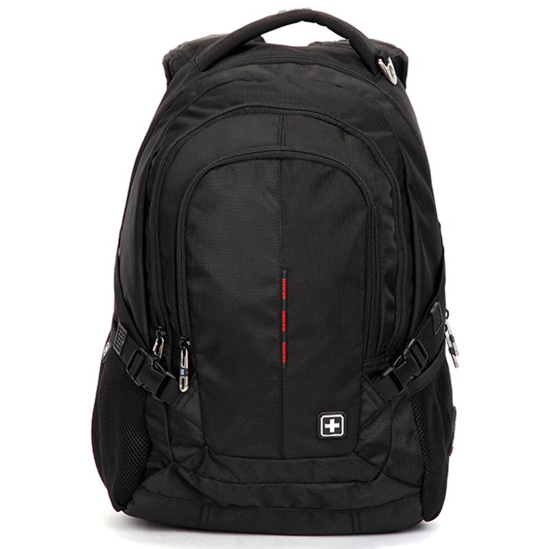 Kvalitní turistický a cestovní prodyšný batoh černý - Suissewin 9617