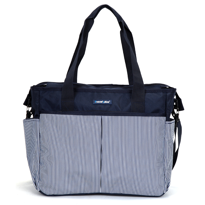 Dámská cestovní taška modrá pruhovaná - Travel plus 7501
