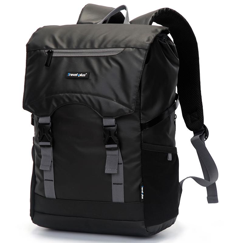 Vodě odolný turistický černý batoh - Travel plus 0616