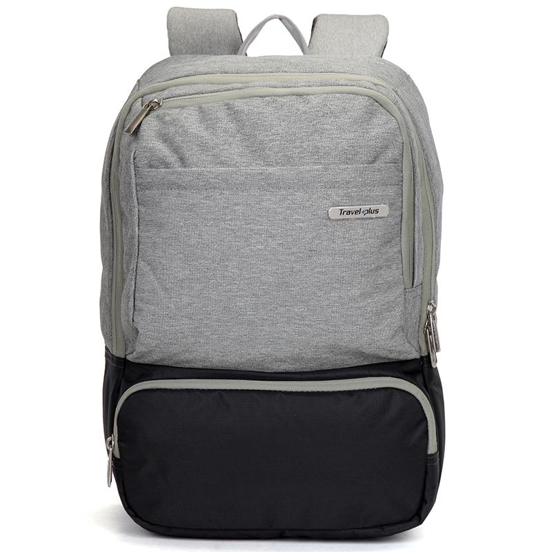Módní cestovní šedý batoh - Travel plus 7506