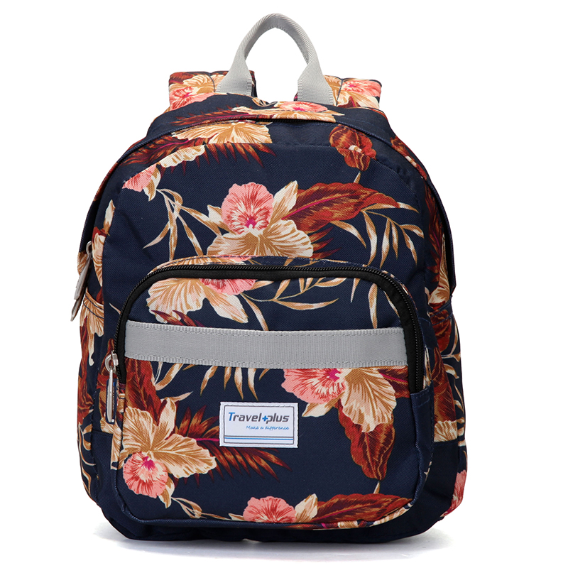 Střední dámský květinový batoh na výlety - Travel plus 0643