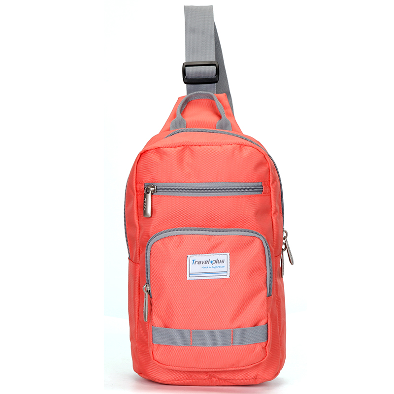Malý lososově oranžový batoh na výlety - Travel plus 7508