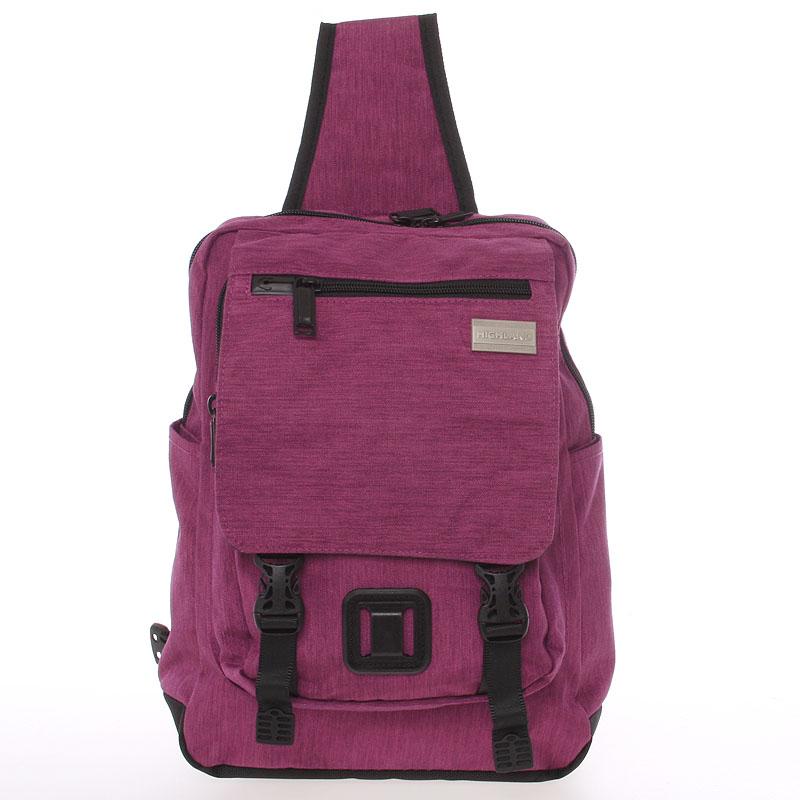 Středně velký fialový multifunkční batoh - Highland 8253