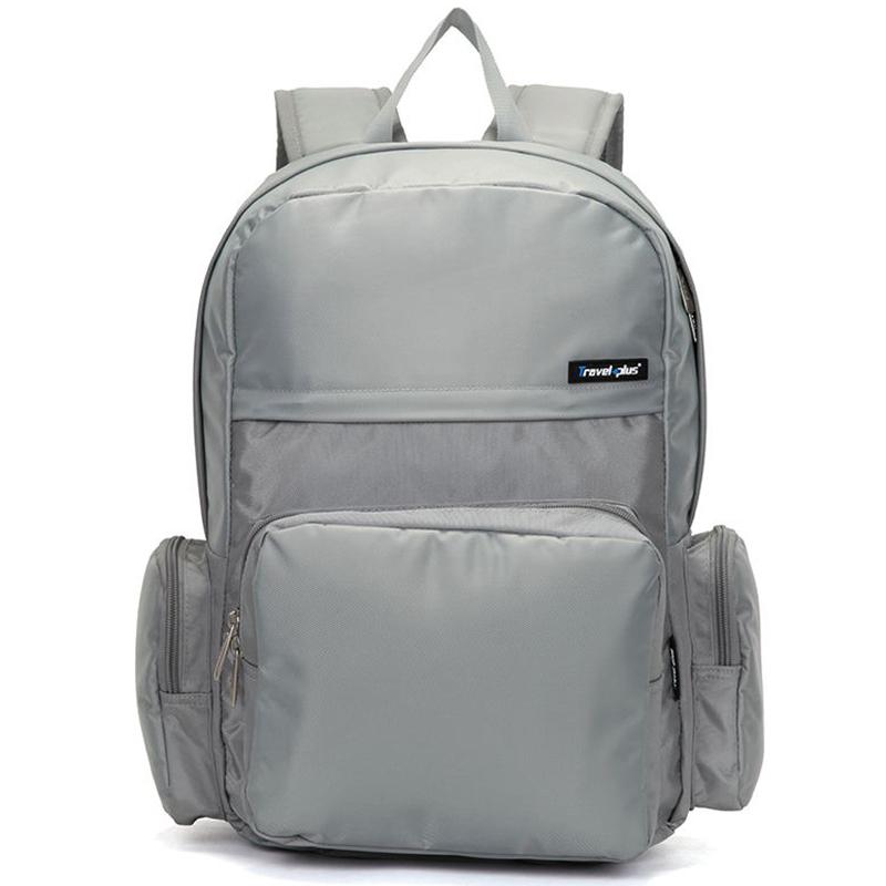Školní a cestovní šedý batoh - Travel plus 0109