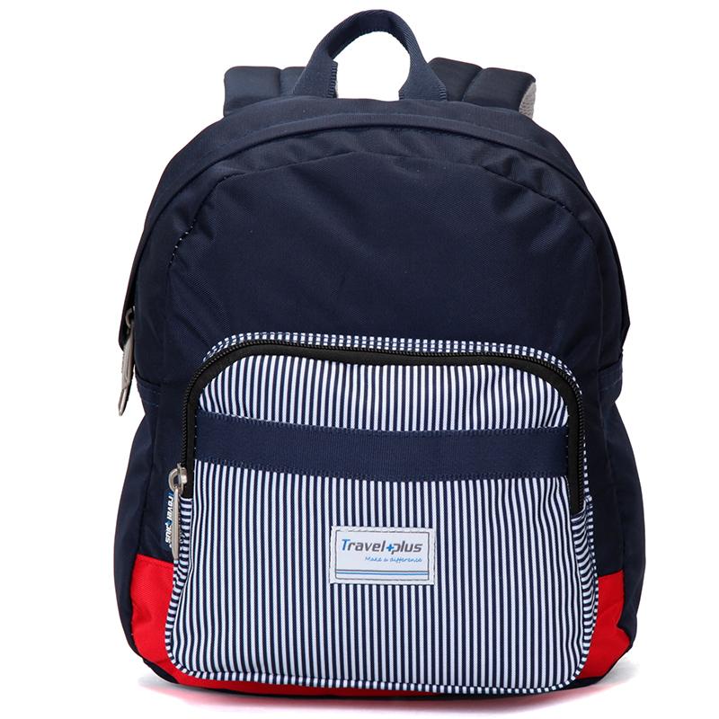Střední dámský modrý proužkovaný batoh na výlety - Travel plus 0643