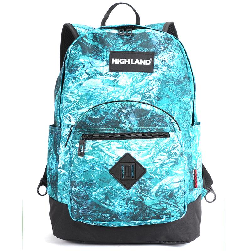 Originální lehký školní a cestovní batoh zelený - Highland 8275