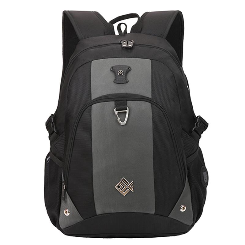 Pohodlný multifunkční prodyšný batoh černo šedý - Suissewin 7029