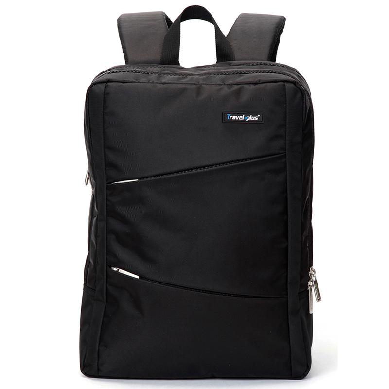 Originální cestovní a školní černý batoh - Travel plus 0620