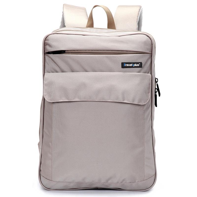 Béžový školní a cestovní batoh - Travel plus 0127