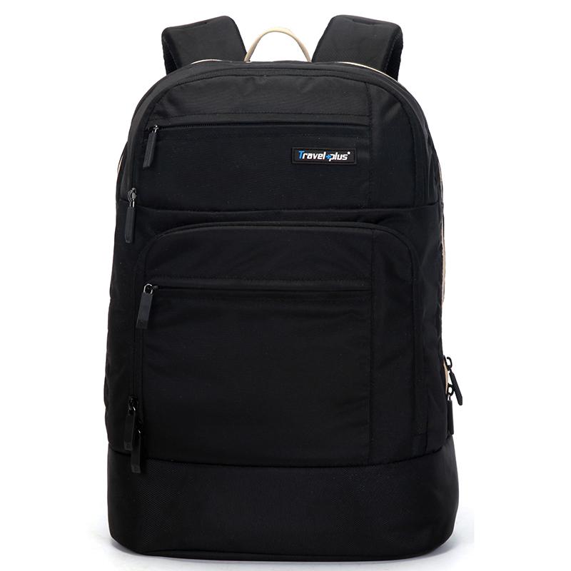 Černý školní a cestovní batoh - Travel plus 0101