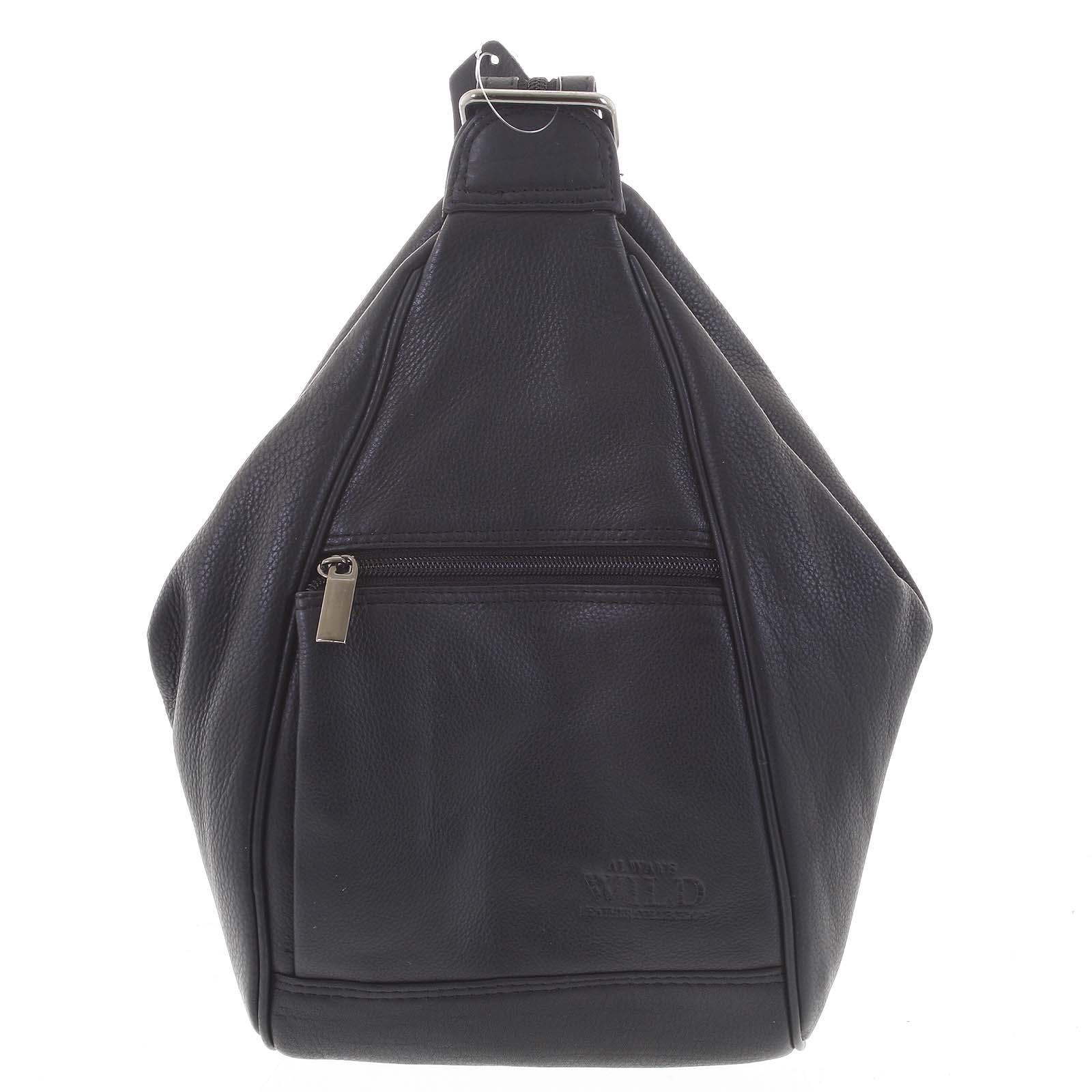 Dámský kožený batůžek černý - WILD Queen