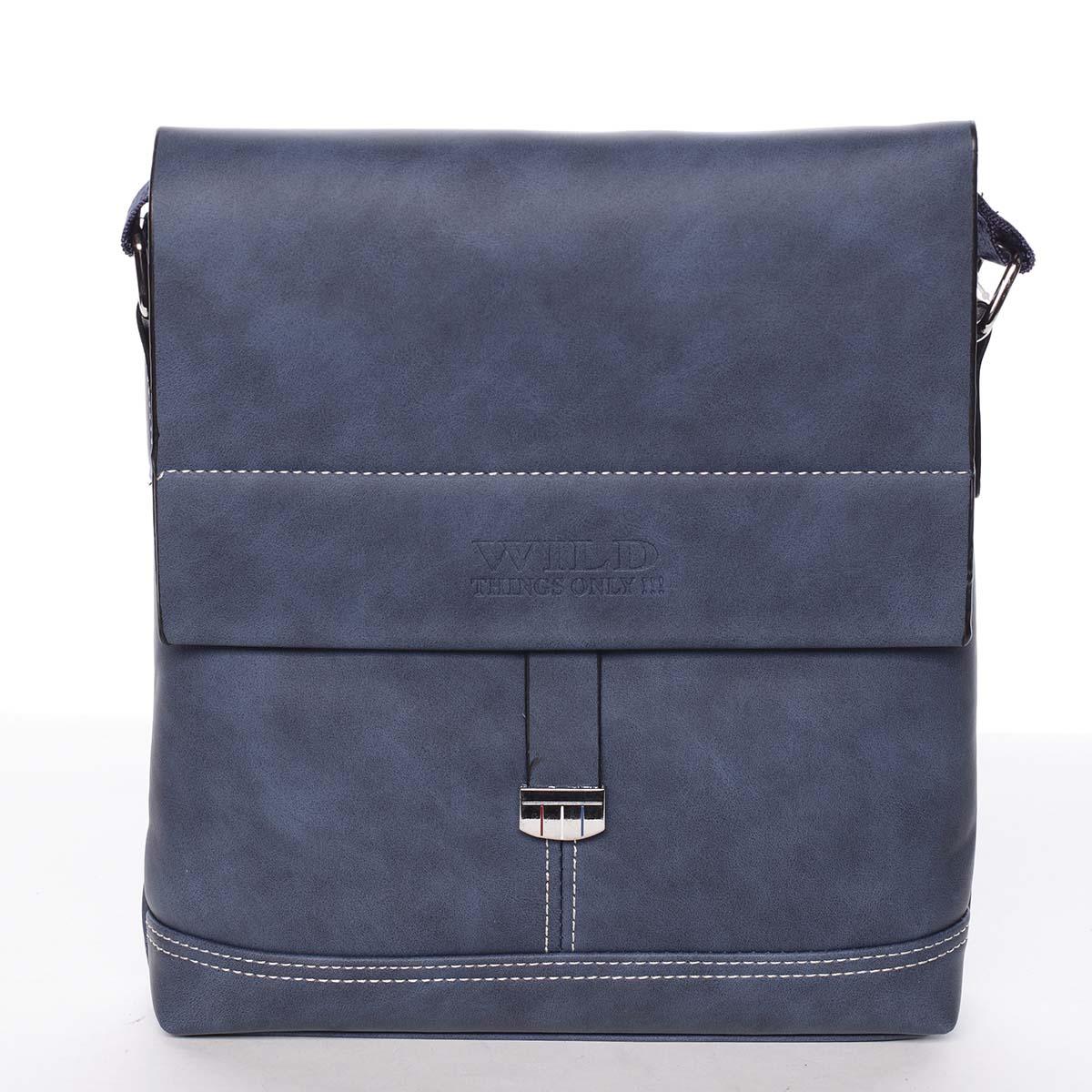 Modrá originální pánská taška přes rameno - WILD Adad