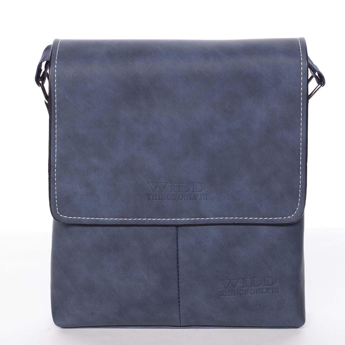 Moderní modrá pánská taška přes rameno - WILD Adapa