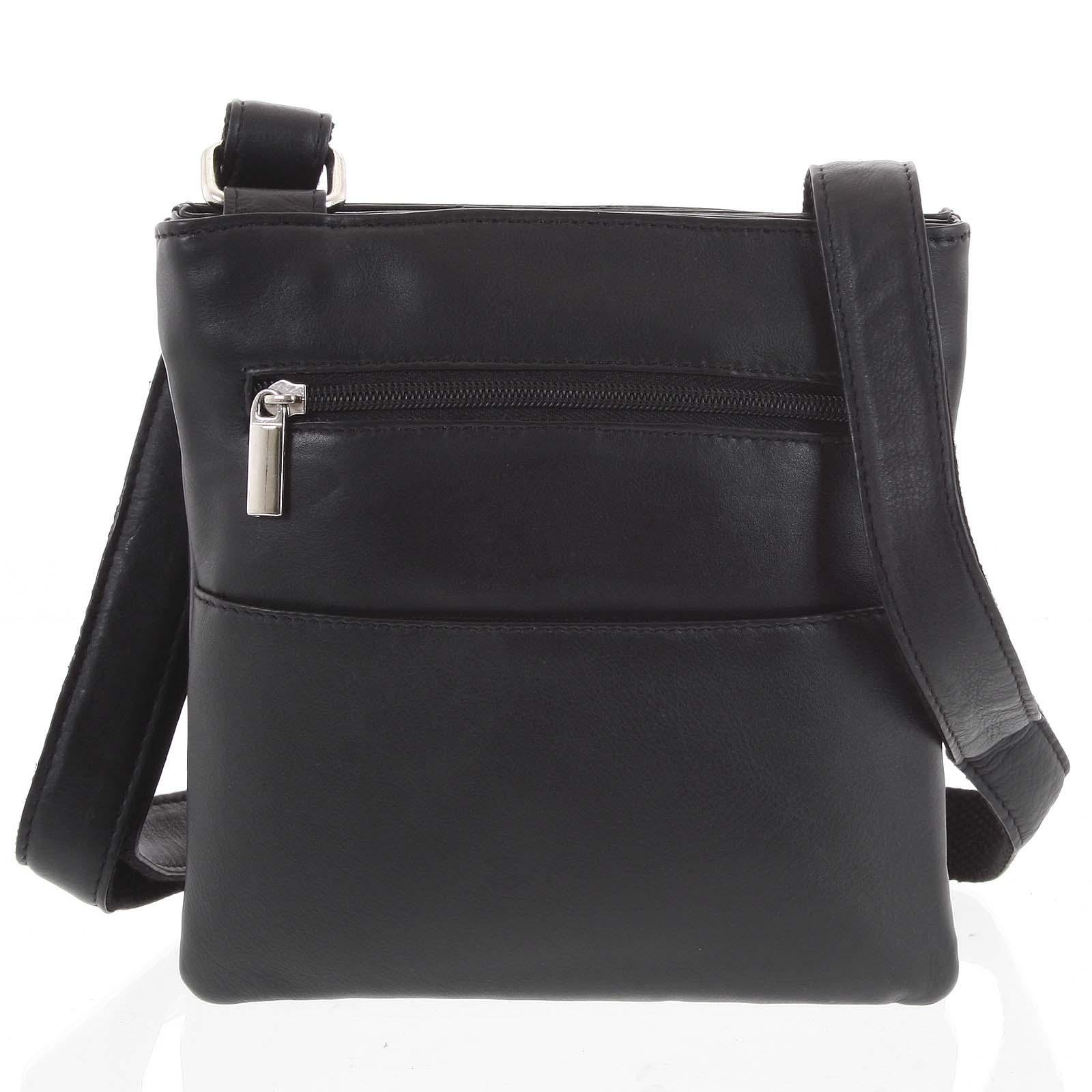 Pánská kožená taška na doklady černá - WILD Isidro