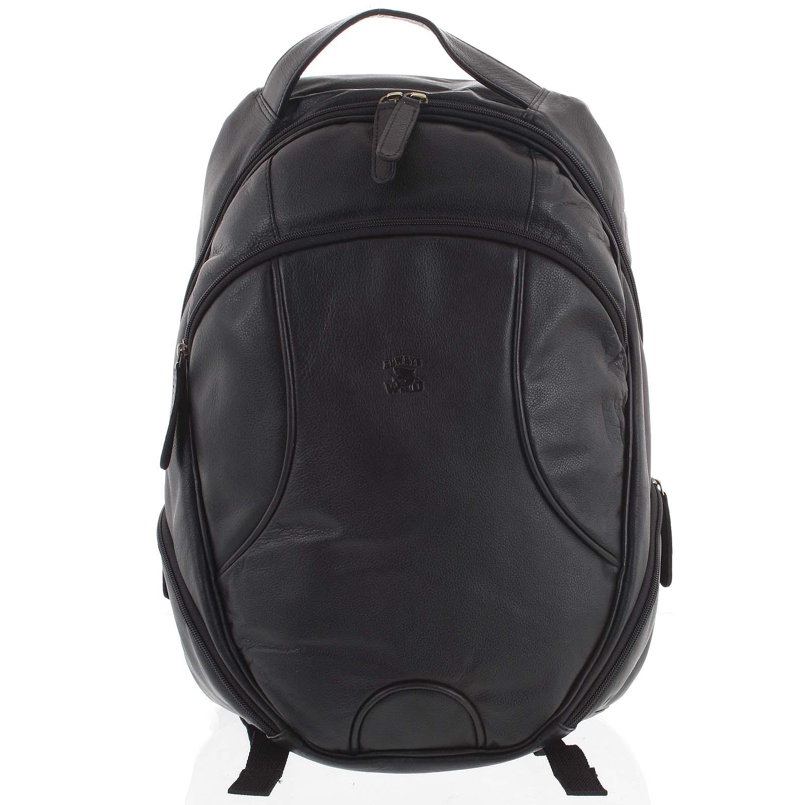 Kožený batoh černý - WILD Picelle
