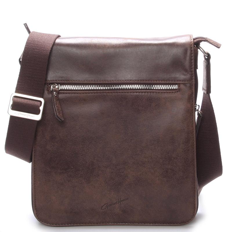 Pánska kožená taška přes rameno hnědá - Gerard Henon Archard
