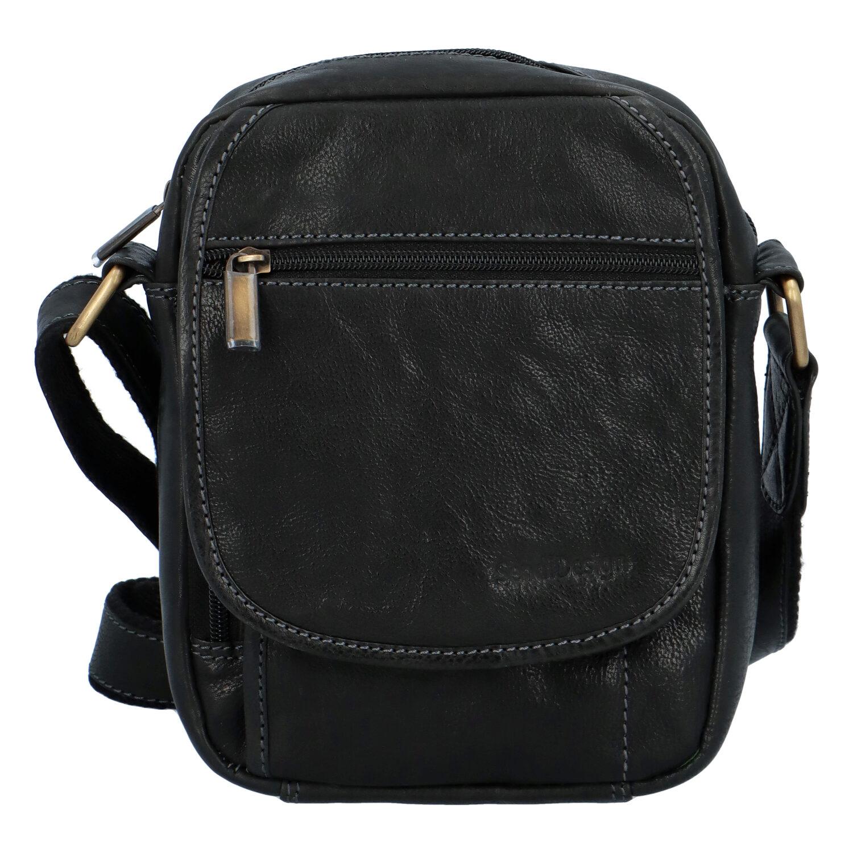 Pánská kožená taška přes rameno černá - SendiDesign Colyn