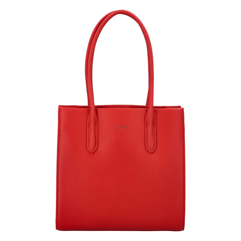 Dámská kabelka přes rameno červená - David Jones Sementis