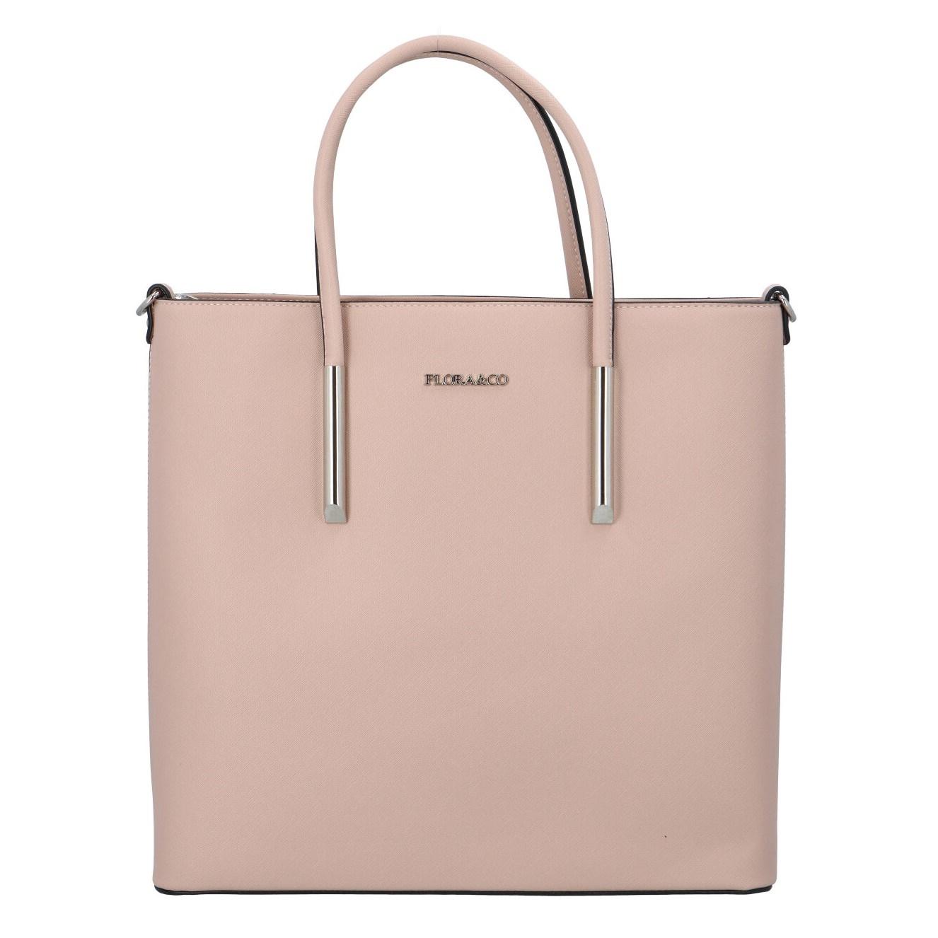 Luxusní dámská kabelka růžová - FLORA&CO Paris