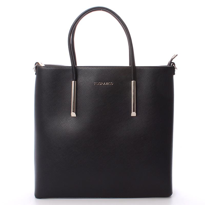 Luxusní dámská kabelka černá - FLORA&CO Paris černá