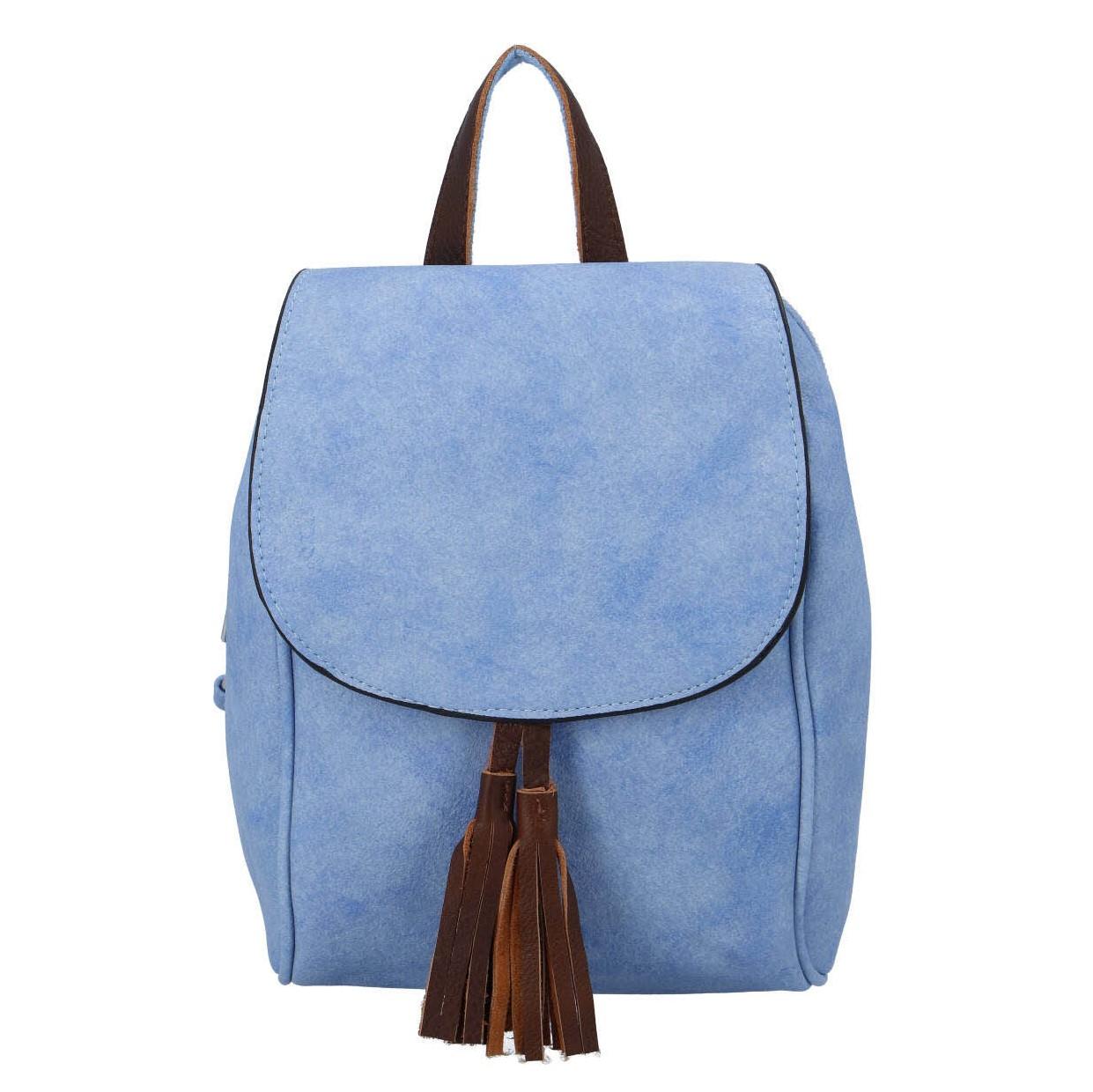 Levně Dámský městský batoh světle modrý - Paolo Bags Doseph