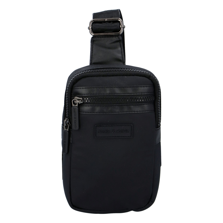 Levně Pánská taška na doklady černá - Justin & Kelvin John