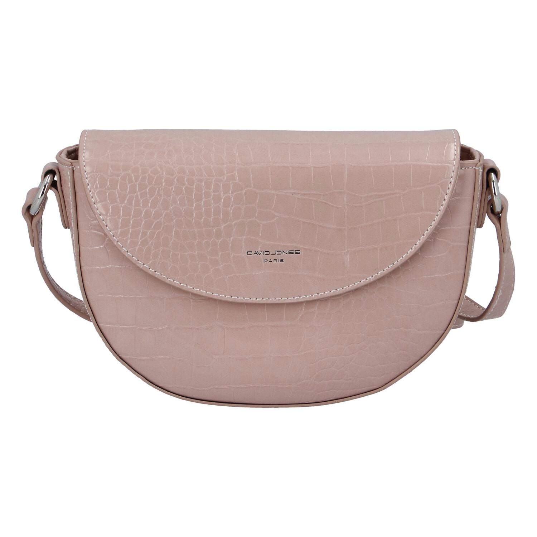Dámská luxusní crossbody kabelka růžová - David Jones Safiuly růžová