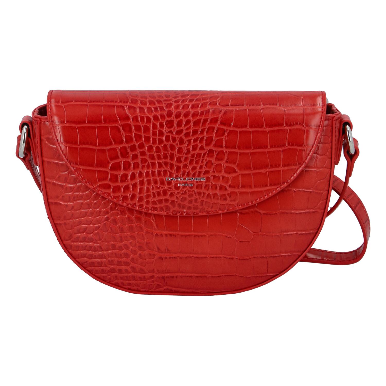 Dámská luxusní crossbody kabelka červená - David Jones Safiuly červená